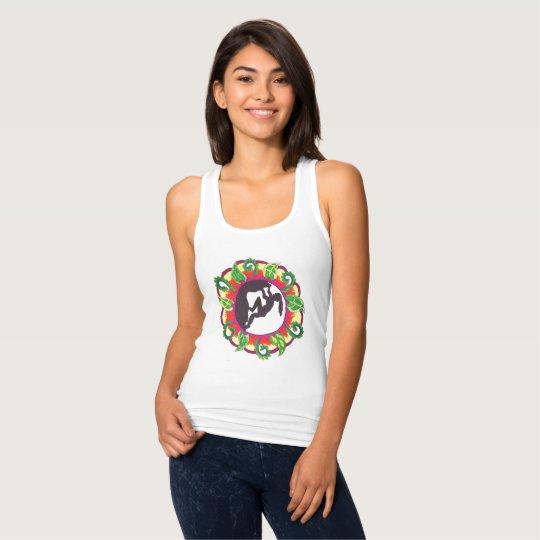 Camiseta Con Tirantes ¡Roca encendido! Chica del zen de la escalada