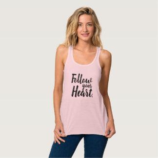 Camiseta Con Tirantes Siga su corazón