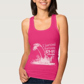 Camiseta Con Tirantes Sobreviví el huracán Irma