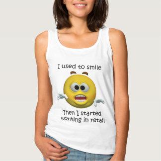 Camiseta Con Tirantes Sonreía humor al por menor del empleado
