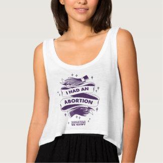 Camiseta Con Tirantes Tenía un tanque de la cosecha del aborto