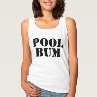 Camiseta Con Tirantes Texto lindo del vago de la piscina del verano de