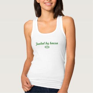 Camiseta Con Tirantes Texto verde: Aprovisionado de combustible por el