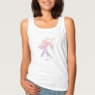 Camiseta Con Tirantes Tipografía de la danza de la salsa