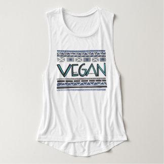 Camiseta Con Tirantes Vegano/impresión tribal