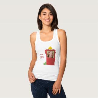 Camiseta Con Tirantes Vela roja, rana verde - inserte la foto y el texto