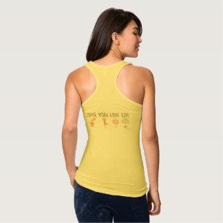 Camiseta Con Tirantes Vida del amor de la yoga del café (ambos lados)