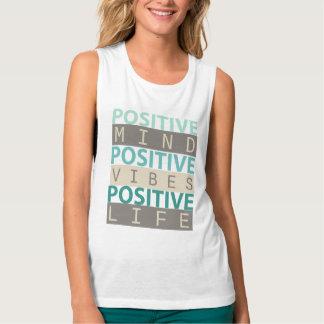 Camiseta Con Tirantes Vida POSITIVA del POSITIVO de la sensación de la
