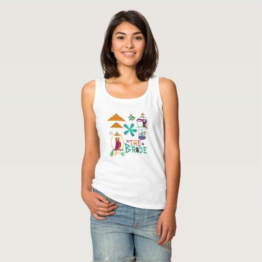 Camiseta Con Tirantes Vintage moderno de los pájaros de Tiki retro el