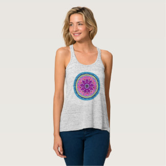 Camiseta Con Tirantes Yoga de la mandala y desgaste de la meditación