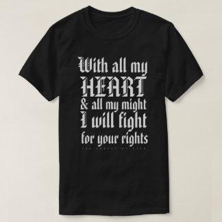 Camiseta Con todo mi corazón (oscuro)