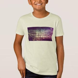 Camiseta Concepto abstracto futurista en tecnología
