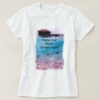 Camiseta Conciencia del cambio de clima de la protección