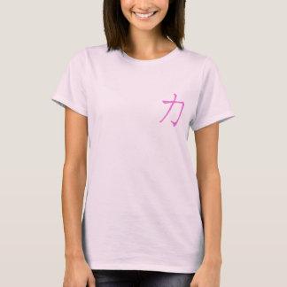 Camiseta Conciencia japonesa del cáncer de pecho de la