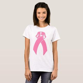 Camiseta Conciencia rosada del cáncer de pecho de la cinta