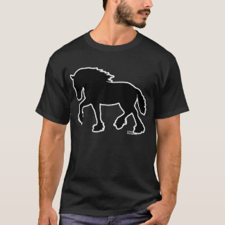 Camiseta Condado o silueta del caballo de proyecto de