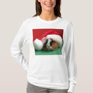 Camiseta Conejillo de Indias fresco para mujer del navidad