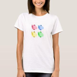Camiseta Conejillos de Indias lindos del amarillo del rosa