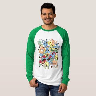 Camiseta Conejitos divertidos del Doodle