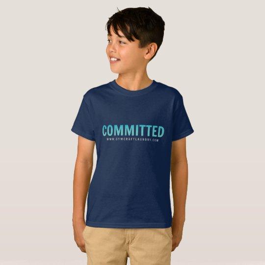 Camiseta confiada de los niños