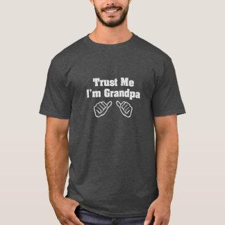 Camiseta Confíe en que yo es abuelo