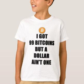 Camiseta Conseguí 99 Bitcoins pero un dólar Aint uno