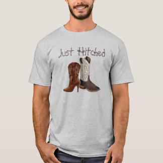 Camiseta conseguir casarse occidental enganchado de las