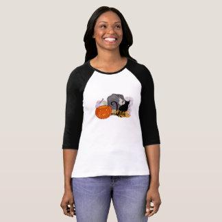 Camiseta Consigamos a calabaza rota del gato el caramelo de