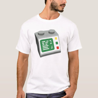 Camiseta Consola informática del ladrillo del juguete