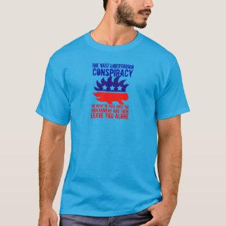 Camiseta Conspiración libertaria extensa del puerco espín