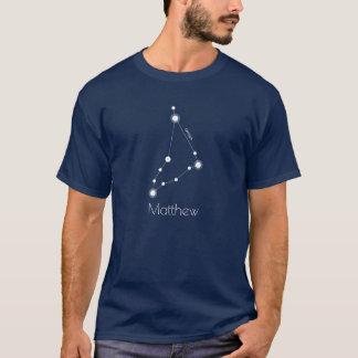 Camiseta Constelación personalizada del zodiaco del