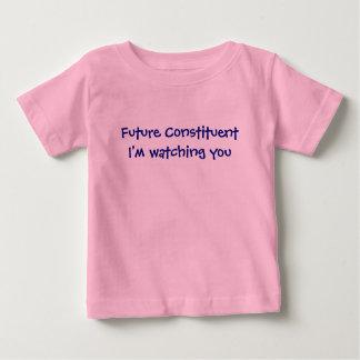 Camiseta constitutiva futura del bebé