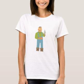 Camiseta Constructor con el ladrillo y paleta en