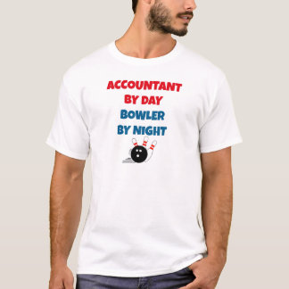 Camiseta Contable por el jugador de bolos del día por noche