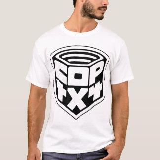 Camiseta copia del negro basic1 de la insignia del poli