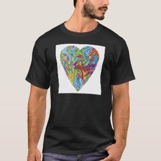 Camiseta Corazón #2 del arte de la interferencia