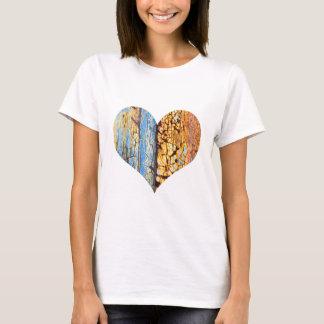 Camiseta Corazón agrietado oxidado