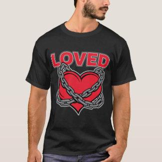 Camiseta Corazón amado encadenado día de San Valentín