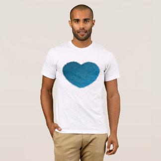 Camiseta Corazón azul grande