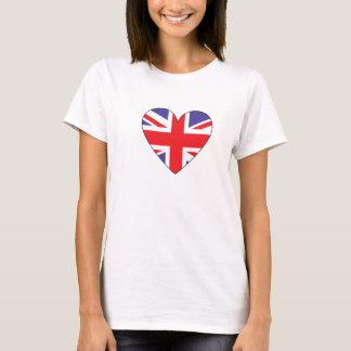 Camiseta Corazón británico de la bandera