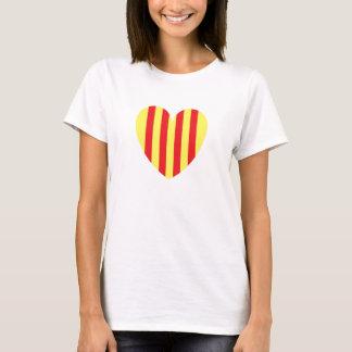 Camiseta corazón catalan