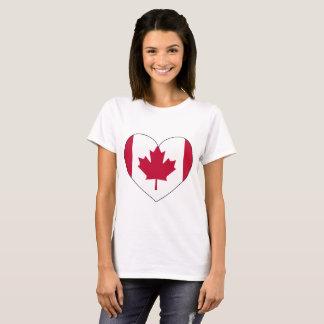 Camiseta Corazón de la bandera de Canadá