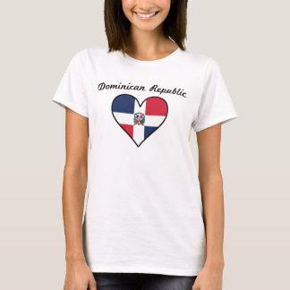 Camiseta Corazón de la bandera de la República Dominicana