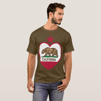 Camiseta Corazón de la bandera del oso de Cali - estrella