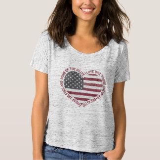 Camiseta Corazón de los E.E.U.U. del amor del vintage I
