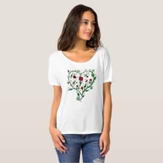 Camiseta Corazón de rosas