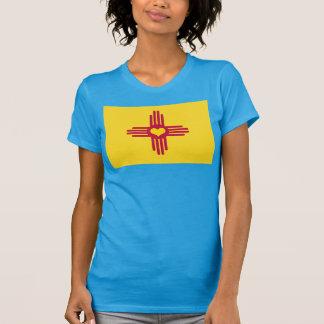 Camiseta Corazón de ZIA de la bandera de New México -