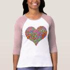Camiseta Corazón del amor de la paz del vintage