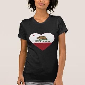 Camiseta corazón del barstow de la bandera de California