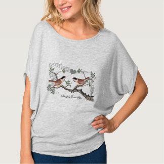 Camiseta Corazón del Chickadee feliz nunca después de